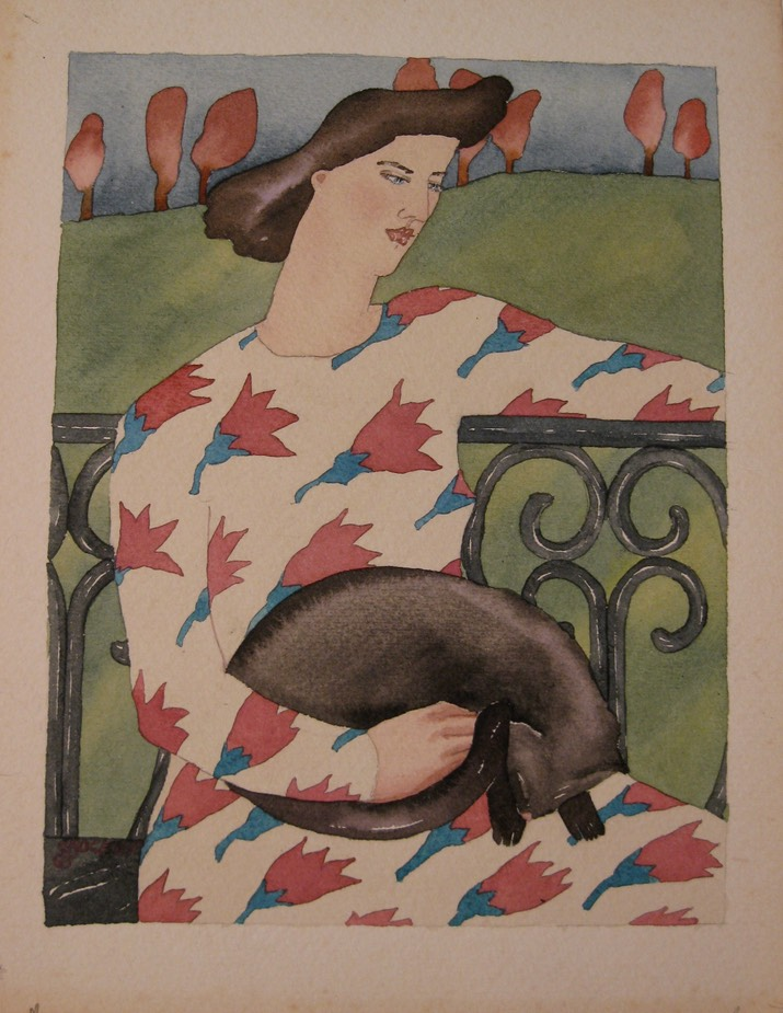 Woman with Cat1a