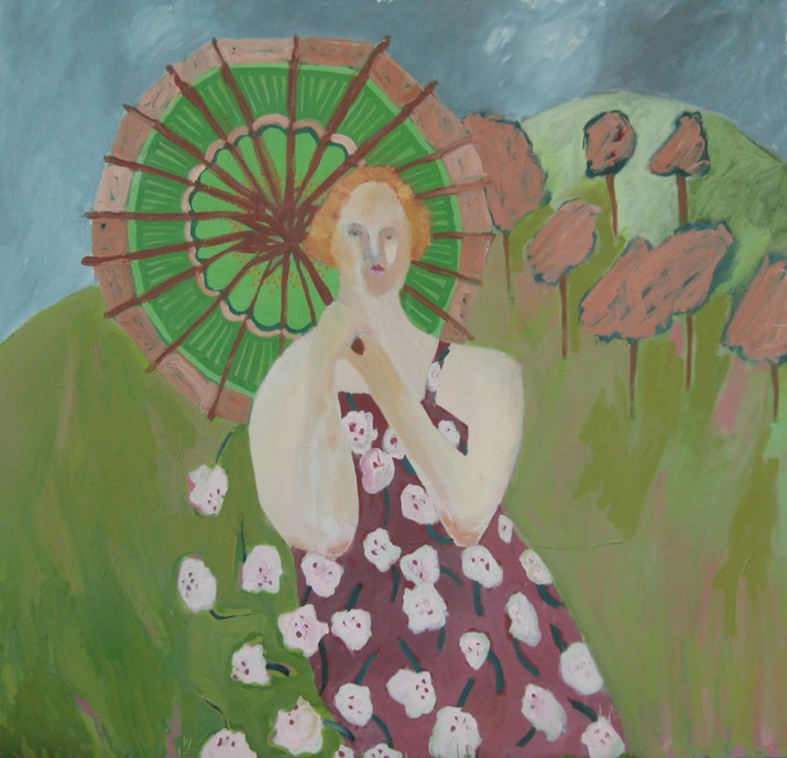 Oil Painting- Woman with Parasol1a